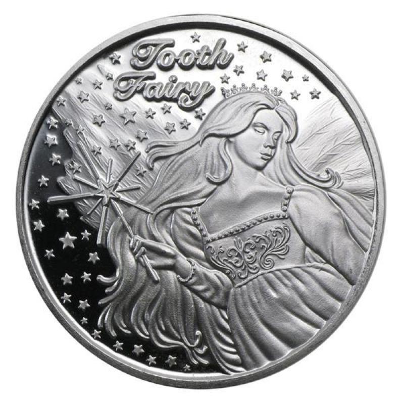1 Oz Silver Round Tooth Fairy 32 90 Aurinum Online