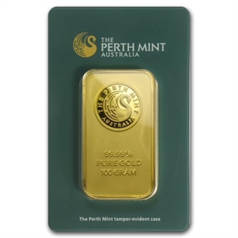 1 gram Perth Mint Gold Bar .9999 Fine in Assay