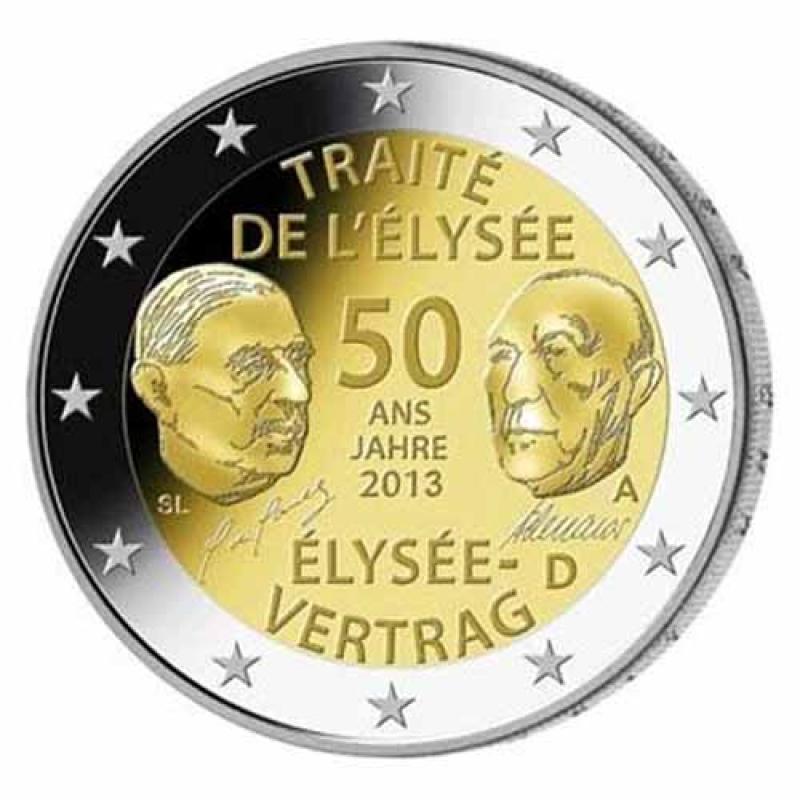 2 Euro Deutschland 2013 50 Jahre Elysee Vertrag F Unc 389