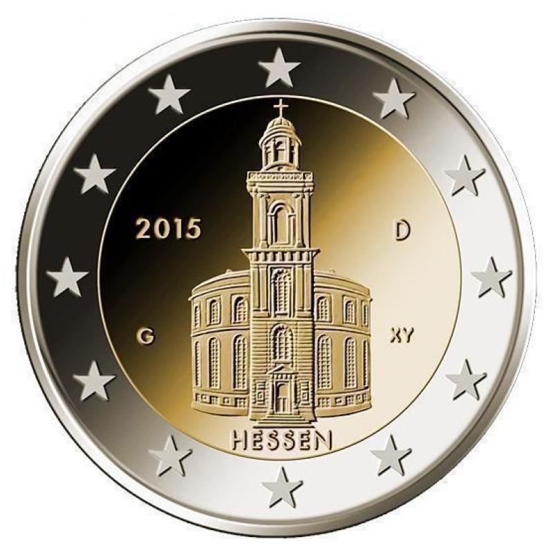 2 Euro Deutschland 2015 Hessen Paulskirche Mz D München 349