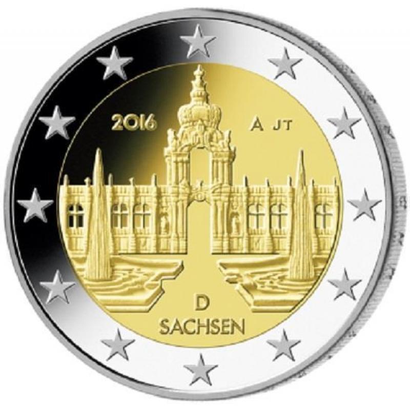 2 Euro Deutschland 2016 Sachsen Dresdner Zwinger Mz D München