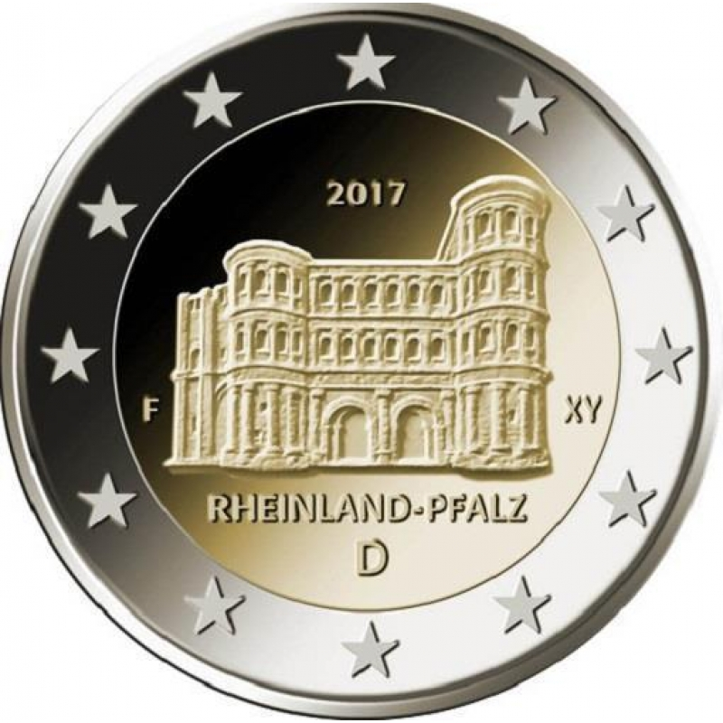 2 Euro Deutschland 2017 Rheinland Pfalz Porta Nigra Trier Mz F Stut