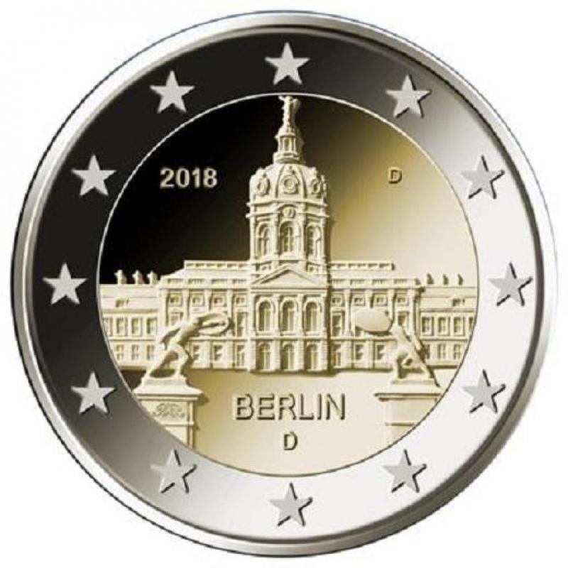 2 Euro Deutschland 2018 Berlin Schloss Charlottenburg Mz D Mü