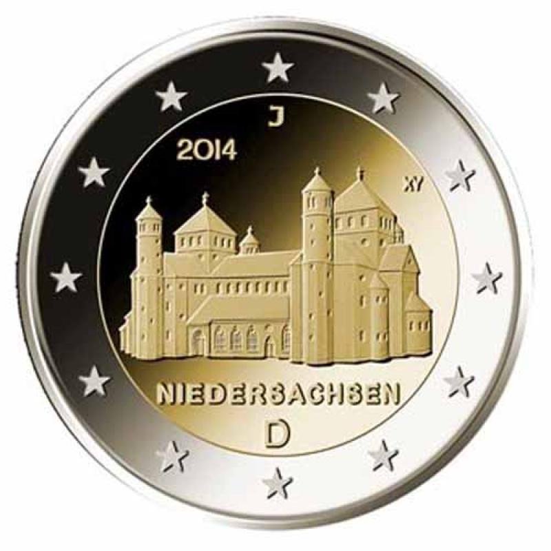 2 Euro Deutschland 2014 Niedersachsen Michaeliskirche Mz A Berlin