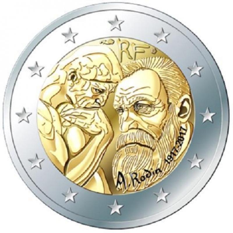 2 Euro Frankreich 2017 Auguste Rodin 2017 In Frankreich Unc 389 E