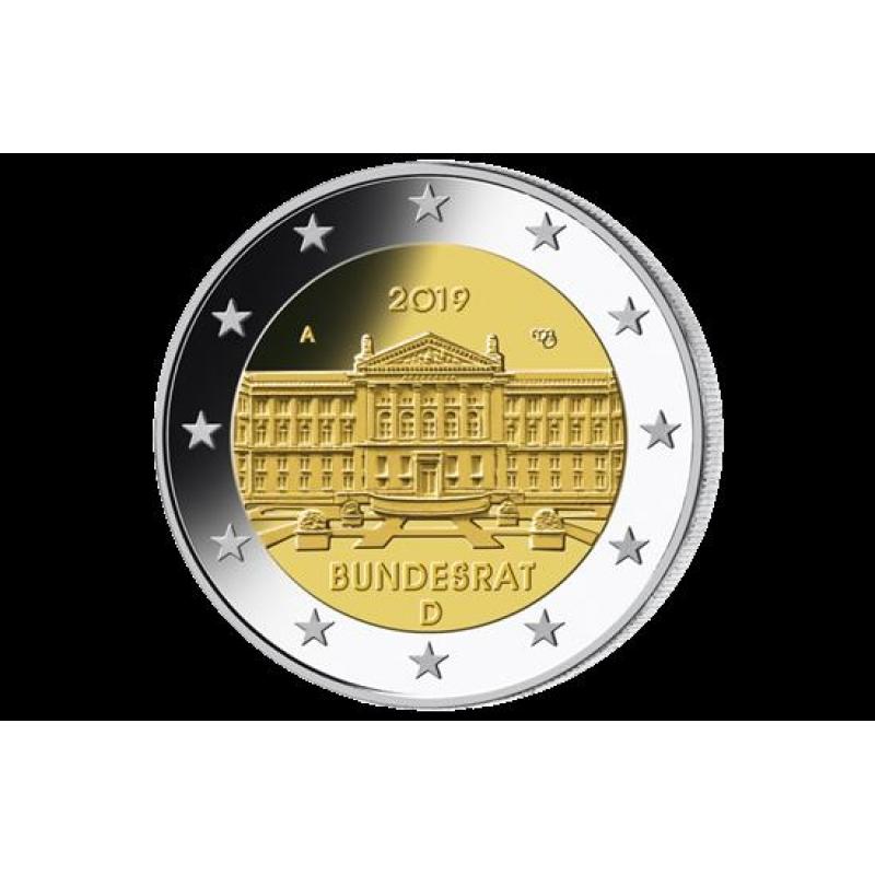 2 Euro Set Deutschland 2019 70 Jahre Bundesrat Mz A Berlin 295