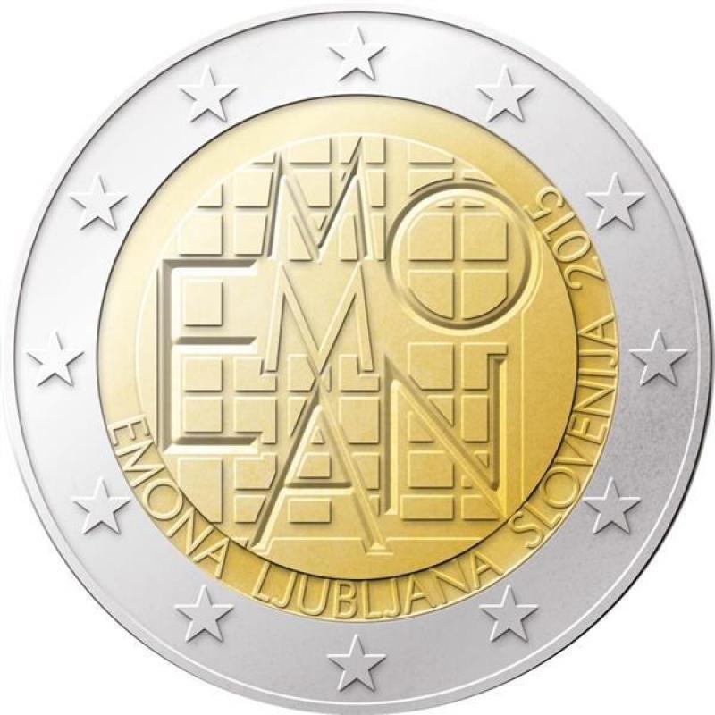 2 Euro Slowenien 2015 2000 Jahre Römische Siedlung Emona