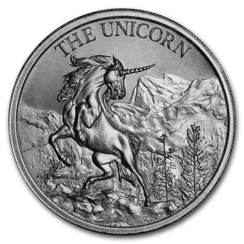 THE UNICORN by Intaglio Mint 1 Troy OZ .999 Silver Round Custom Antique Finish