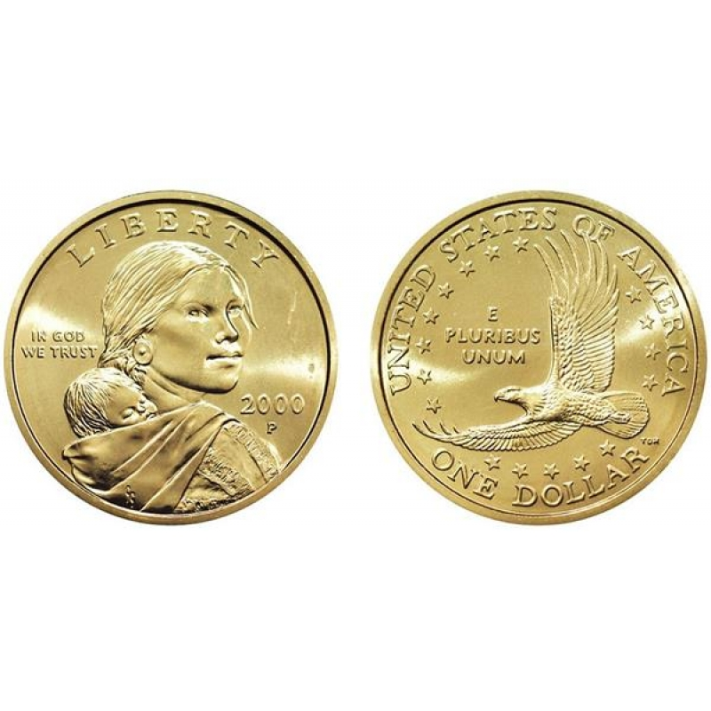 2000 P Native American Sacagawea Dollar 1 Usd Bu Usa 2 95 Au
