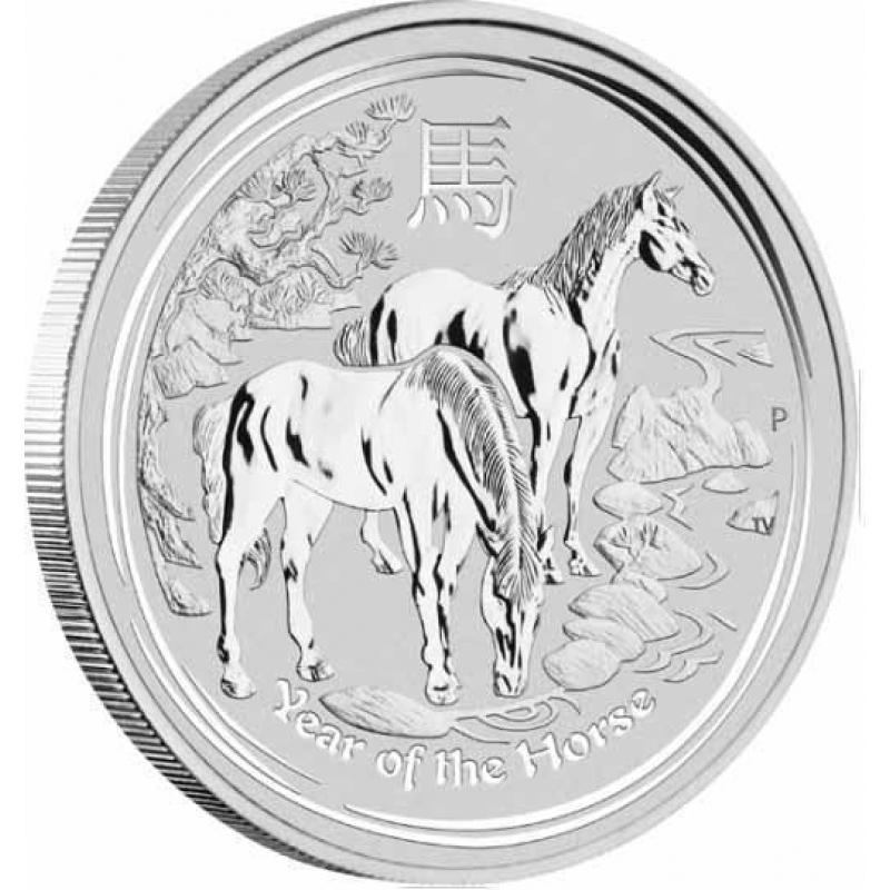 1 Oz Silver Australian Lunar Year Of The Horse Coin Sii
