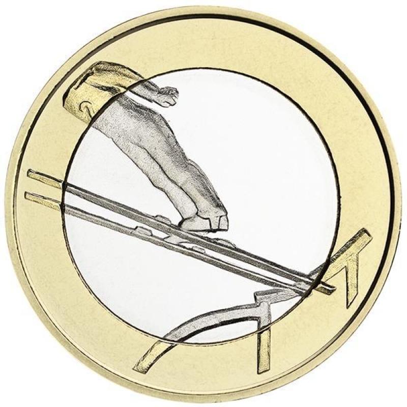 finland 5 euro 2016 sport coins ski jumping unc 7 49 aurinum. Black Bedroom Furniture Sets. Home Design Ideas