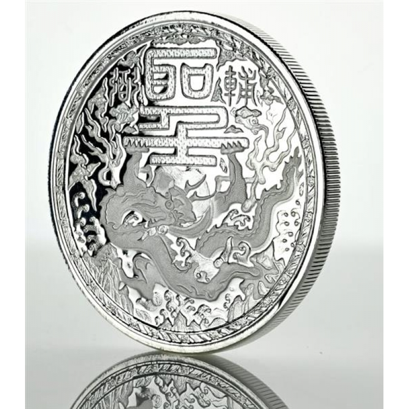 500 Oz Silvers: Cameroon 1 Oz Silver Imperial Dragon 2018