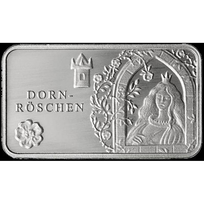 Märchen Silberbarren Dornröschen 99999 Münze Berlin