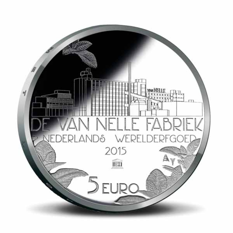 niederlande 5 euro 2015 silber van nelle fabrik bu 11 90 aur. Black Bedroom Furniture Sets. Home Design Ideas