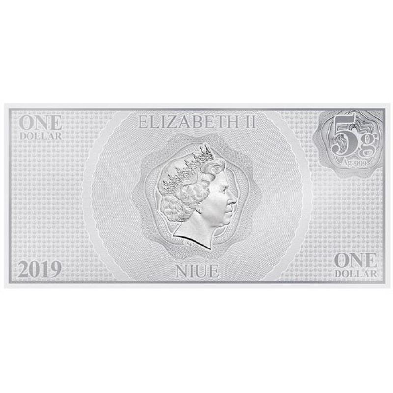 översvämning klart räkning  2019 Star Wars: The Force Awakens - Finn 5g Silver Coin Note, 29,90 &