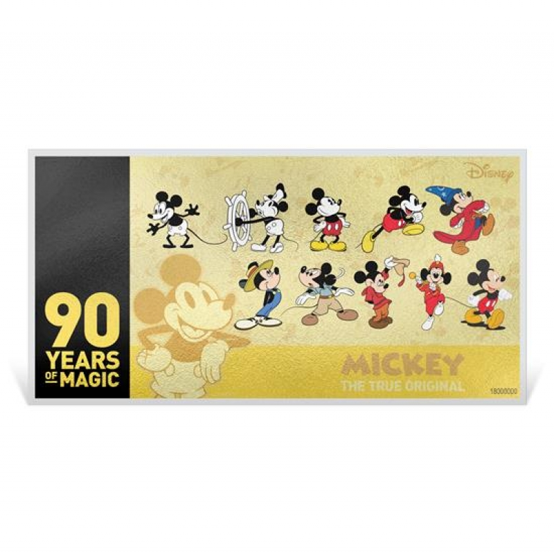 niue islands 10 dollar mickey mouse 90 geburtstag jubil um 1 g. Black Bedroom Furniture Sets. Home Design Ideas