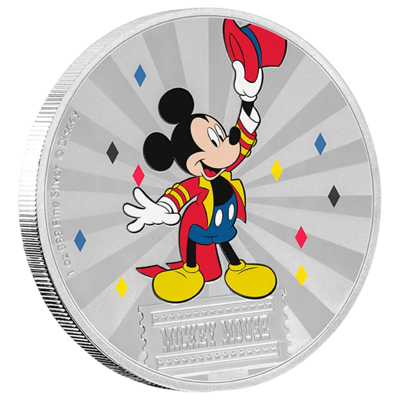 2019 Niue Mickey Mouse & Friends Carnival - Mickey Mouse 1oz Silver Coin