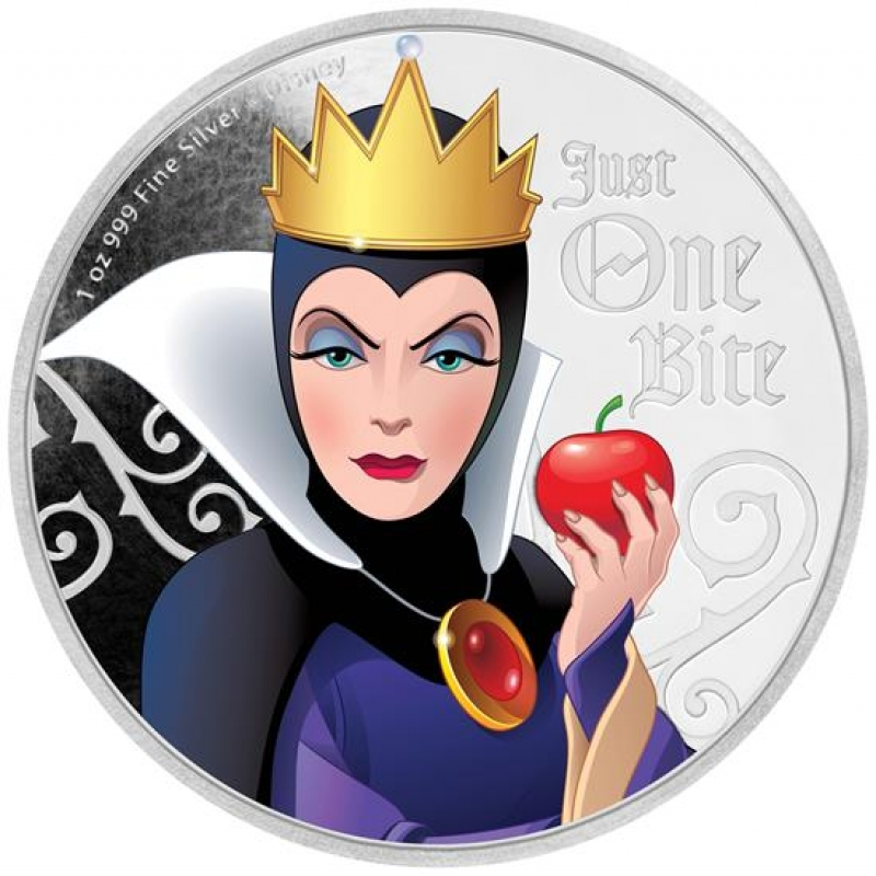 Niue 1 Disney Villains Evil Queen 1oz Silver Proof 2018