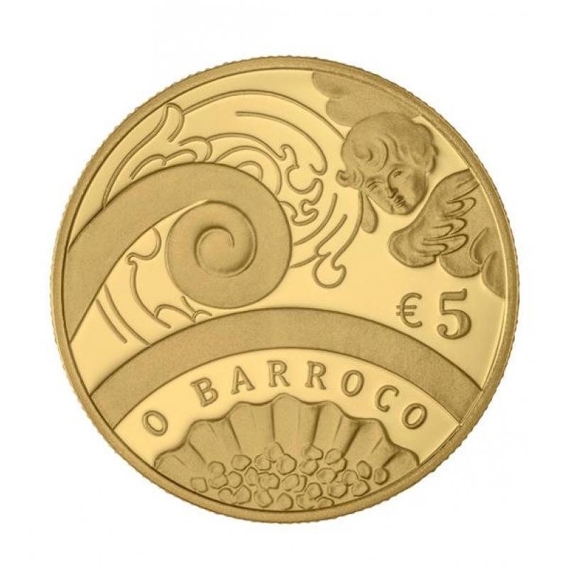 Portugal 5 Euro Gold 2018 Europa Stern Serie Barock Rokoko Gold