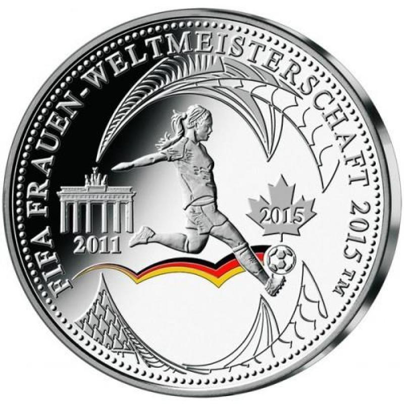 Silber Münze Berlin Frauen Fussball Wm In Kanada 2015 33399 1