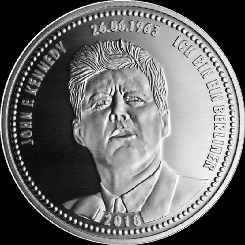 Silber Münze Berlin Ich Bin Ein Berliner Jf Kennedy 2018 199