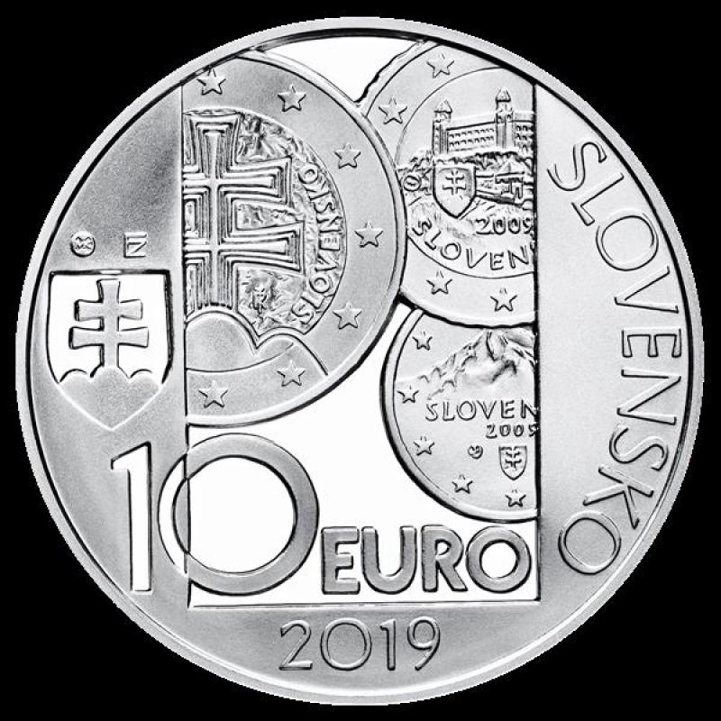 slovakia 10 euro 10 years euro in slovakia proof 2019 32. Black Bedroom Furniture Sets. Home Design Ideas