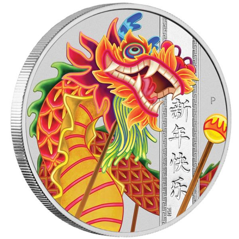 tuvalu 2019 1 chinese new year dragon 1oz silver bu
