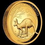 2019 $100 Kangaroo High Relief 1oz Gold Proof