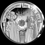 Belgium 10 Euro Silver Europe Star Series - Jan van Eyck...