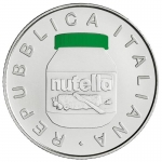 Italy 5 EURO 2021 Nutella Green  Coloured in Box