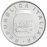 Italy 5 EURO 2021 Nutella White Coloured in Box