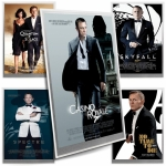 JAMES BOND 007? - SET MOVIE POSTERS - SILVER FOILS