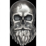 2019 Palau 5 Dollar 1 Oz Silver Biker Skull  High Relief