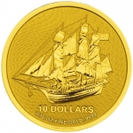 1/10 Unze Gold Cook Islands Bounty 2020 - neues Design