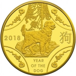 2018 $10 Year of the Dog (SII) 1/10oz Gold Proof (RAM)