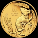 1/4 oz Gold  Proof Australian Lunar Year of the Mouse Coin (SIII) 2020 Proof