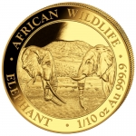 1/10  Oz Gold Somalia Elefant 2020 BU