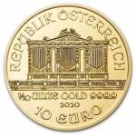 1/10 oz Gold Austrian Philharmonic Brilliant Uncirculated...
