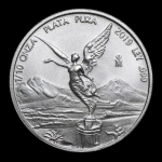 1/10 Oz Silver Mexico Libertad 1/10 Oz 2019 Brilliant...