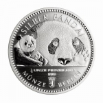 1/16 Oz Silver Panda 2018 Berlin Mint in capsule
