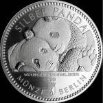 1/2 Oz Silber Panda 2020 Berlin in Blister Coincard