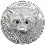 2013 Vanuatu 1/2  oz Silver Forest Animals The Raccoon...