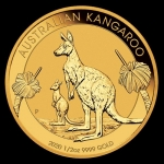 1/2 oz Australian Gold Kangaroo 999 Brilliant...