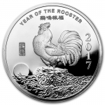 1/2 oz Silver Round - 2017 Year of the Rooster .999 Fine