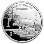 1/2 oz Silver Round - 2018 Year of the Dog .999 Fine