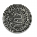 1/2 oz Samoa Samoa Serpent of Milan Silver Coin (2020) Antique Finish