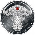 2020 Republic of Ghana 1/2 oz Silver Lunar Year of the Ox...