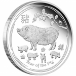 1 Kilo Silver  Proof Australian Lunar Year of the Pig...