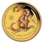1/20 oz Gold Australian Lunar Year of the Monkey Coin...