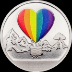 1 $ 2021 Cook Islands - Silver LOVE Globes  Proof